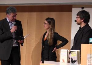 v.l.n.r.: Dr. Bernd Busch, Corinna Antelmann, Martin Kordić